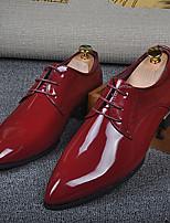 גברים-נעליים ללא שרוכים-מיקרופייבר-נוחות-אפור צהוב אדום-יומיומי-עקב נמוך