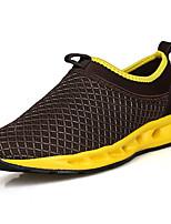 Серый Коричневый Темно-серый чёрный и Синий Черный/Желтый-Для мужчин-Повседневный-Тюль-На плоской подошве-Удобная обувь-Мокасины и Свитер
