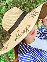 Wide Large Brim Uv Sunscreen Shading Solid Beach Straw Hat Sun Hat Cap for Lady Women