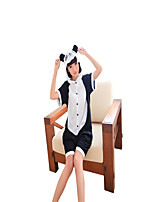 Kigurumi Pajamas Panda Leotard/Onesie Festival/Holiday Animal Sleepwear Halloween Black/White Color Block Cotton Cosplay Costumes Kigurumi