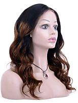 Ombre t1b / couleur marron pleine dentelle cheveux humains perruques loose wave 100% peruvian virgin hair glueless perruques en dentelle
