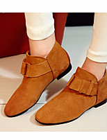 Damen-Stiefel-Lässig-PUKomfort-Schwarz Braun
