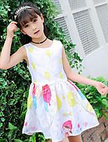 Girl's Print Dress,Cotton Summer Sleeveless