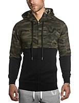 Men's Casual/Daily Hoodie Color Block Round Neck strenchy Cotton