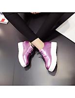 Белый Серый Лиловый-Для женщин-Повседневный-Полиуретан-На плоской подошве-Удобная обувь-Мокасины и Свитер