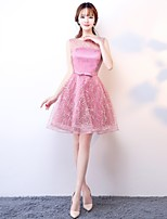 Cocktail Party Dress A-line Scoop Knee-length Tulle with