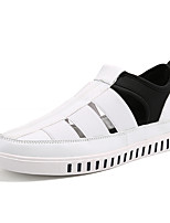Men's Sneakers Summer Comfort Hole Shoes PU Casual Hollow-out Black White Walking