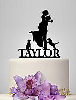 Decorações de Bolo Personalizado Casal Clássico Acrilíco Casamento Aniversário Despedida de SolteiraTema Jardim Tema Clássico Tema