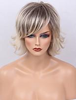 Ombre Wig&silk Short Natural Straight Capless Cap Human Hair Wig For Women 2017