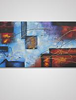 Estampados de Lonas Esticada Abstrato Clássico Tradicional,1 Painel Tela Horizontal Impressão artística Decoração de Parede For Decoração