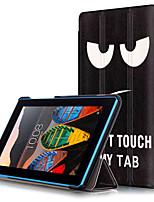 Tampa da caixa de impressão para lenovo tab3 tab 3 7 730 730m tb3-730m comprimido com película protetora