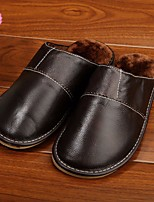 Herren-Slippers & Flip-Flops-Lässig-PU-Blockabsatz-Fersenriemen-