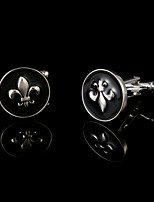 Newest Vintage Remy Martin Black Circular Men's Cufflinks Wedding Gifts Enamel Shirt Cuff Links Design Jewelry Buttons