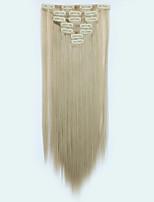 Com Presilha Sintético Extensões de cabelo Alongamento