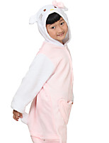 kigurumi Pyjamas Animé Collant/Combinaison Fête / Célébration Pyjamas Animale Halloween Blanc Motif Animal Flanelle Costumes de Cosplay