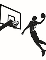 Wall Stickers Wall Decals Style Basketball Players Dunk PVC Wall Stickers
