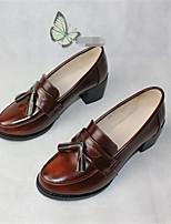-Для женщин-Для прогулок Повседневный-Полиуретан-На толстом каблуке-Удобная обувь-Мокасины и Свитер
