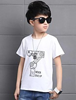 Casual/Daily Print Tee,Cotton Summer