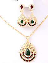 Jewelry Set Bridal Jewelry Sets Pendants Euramerican Fashion Vintage Adorable Simple Style Classic Rhinestone Chrome Button Gold1