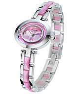 Women's Fashion Watch Quartz Alloy Band Pink Purple