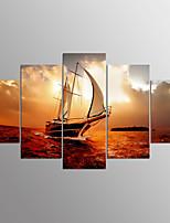 Impression sur Toile Paysage Moderne,Cinq Panneaux Toile Toute Forme Imprimer Art Décoration murale For Décoration d'intérieur