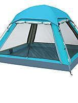LYTOP/飞拓 3-4 personnes Tente Double Tente pliable Une pièce Tente de camping Fibre de verre OxfordEtanche Respirabilité Résistant aux