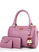 Women PU Formal Casual Event/Party Office & Career Tote Violet Light Grey Pale Pink Black