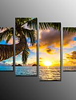 Photographic Print Landscape Modern,Four Panels Canvas Horizontal Print Wall Decor For Home Decoration