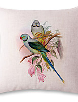 1 pcs Bird couple printing style linen pillow sets sofa cushions cover