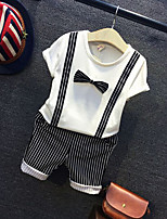 Мальчики Наборы На выход На каждый день Хлопок Однотонный Лето Весна С короткими рукавами Набор одежды