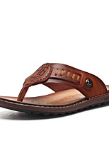 Men's Slippers & Flip-Flops Spring Summer Fall Comfort Cowhide Outdoor Office & Career Dress Casual Upstream shoes