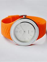 Жен. Модные часы Кварцевый силиконовый Группа Черный Белый Синий Красный Оранжевый Зеленый Серый Розовый Фиолетовый Желтый