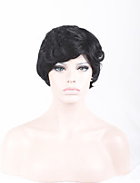 Europe and the United States Wig Short Curly Hair Fleeciness Distinct Chemical Fiber High Temperature Silk Small Caps 4inch