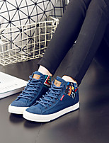 Women's Sneakers Spring Fall Creepers Canvas Outdoor Casual Creepers Blue