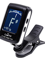 Caline Clip-on Electronic Digital Guitar Tuner CT-03B For Chromatic Bass Violin Ukulele Tuner Black