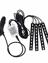 4.8 Inches 36W 3600LM LED Strips(4 groups/ set) RGB Color RF Controller LED Atmosphere Lamp