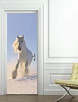 Door Stickers Animals Wall Stickers 3D Wall Stickers Decorative Wall StickersVinyl Material Home Decoration Wall Decal
