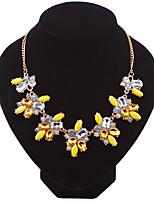 Жен. Ожерелья-цепочки Геометрической формы Форма игрушки Свисающие Хрусталь Сплав Мода Euramerican Pоскошные ювелирные изделия Бижутерия