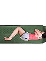 Feuchtigkeitsundurchlässig Wasserdicht Klappbar Transportabel Videokompression Aufgeblasene Matte Camping Polster SchlafpolsterBlau