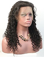 Curly Human Hair Lace Front Wig for Black Women with Baby Hair Illusion Hairline
