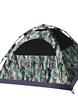 3-4 persons Tent Double Automatic Tent One Room Camping Tent 2000-3000 mm Fiberglass Oxford Waterproof Portable-Hiking Camping-Camouflage
