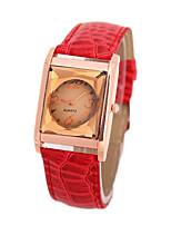 Жен. Модные часы Кварцевый PU Группа Черный Белый Красный