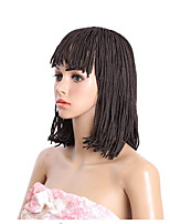 10inch 12inch bob braids wig with bang Micro Braided Wigs for Black Women Short Synthtic Box Braid Wig with Bangs synthetic braiding hair wigs 1pc