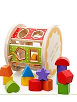 Музыкальные игрушки Обучающая игрушка Игры с последовательностью Для получения подарка Конструкторы Цилиндрическая Дерево 2-4 года 5-7 лет