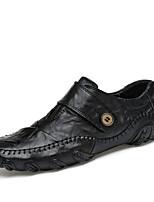 Для мужчин Туфли на шнуровке Удобная обувь Светодиодные подошвы Кожа Полиуретан Лето Осень Удобная обувь Светодиодные подошвыНа плоской