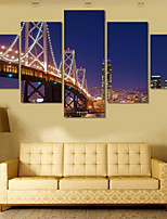 Art Print Landscape Modern Five Panels Horizontal Print Wall Decor For Home Decoration
