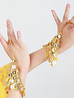 Belly Dance Dance Glove Women's Performance Metal Sequin 2 Pieces Bracelets
