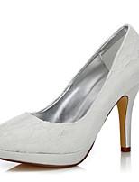Damen-Hochzeit Schuhe-Hochzeit Outddor Büro Kleid Party & Festivität-Seide Tüll-Stöckelabsatz-Komfort Club-Schuhe einfärbbar Schuhe-