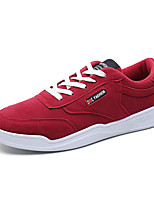 Men's Sneakers Spring Summer Comfort PU Outdoor Athletic Casual Flat Heel Lace-up Red Gray Black