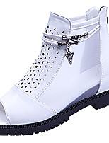 -Для женщин-Для прогулок-Полиуретан-На плоской подошве-Удобная обувь-Сандалии